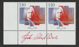 M 77) Deutschland 2000 Mi# 2126 (2): Johann Sebastian Bach, Komponist, Organist - Musica
