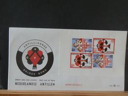 93/911  FDC NED. ANTILLEN BRIDGE - Chess