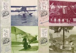SERIE  DE QUATRE CARTES DES PRECURSEURS DE L'AVIATION * FAIREY IIID* VICKERS VIMY *  DH 60G-MOTH MAJOR  G-ACUC * - 1919-1938