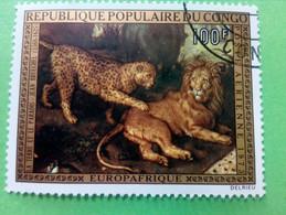 """REPUBLIQUE POPULAIRE DU CONGO - Timbre 1973 : Arts - Tableau """"La Terre Et Le Paradis"""" De J. BRUEGHEL - Oblitérés"""