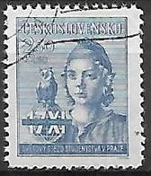 TCHECOSLOVAQUIE     -    1945 .  Y&T N° 419 Oblitéré.  Congrès Des étudiants - Gebruikt