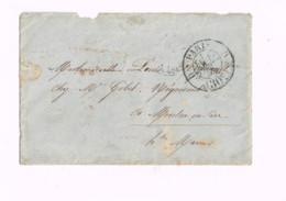 """Lettre Sans Timbre Expédiée De Paris à Montier-en-Der (Haute-Marne) """"Paris à Strasbourg"""" - 1849-1876: Classic Period"""