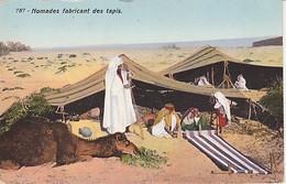"""Collection  """"  L'afrique  """" CAMPEMENT  DE  NOMADES DU SUD  &  NOMADES  FABRICANT  DES  TAPIS  2 CPA  ( 21 / 4 / 163  ) - Other"""