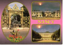 54 Meurthe Et Moselle Nancy Multi Vue Place Stanislas Fontaine Amphitrite Grille Jean Lamour Arc Triomphe Francescut - Nancy