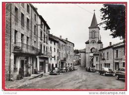 CPSM 42 CHALMAZEL Le Centre Et L' église ( Voitures   * Format CPM - Andere Gemeenten