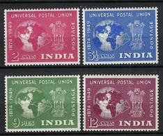 U.P.U. (Union Postale Universelle): 75ème Anniversaire De L'UPU, TP D'Inde, Neufs** - UPU (Universal Postal Union)