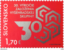 Slovakia - 2021 - 30th Anniversary Of Foundation Of The Visegrad Group - Mint Stamp - Unused Stamps