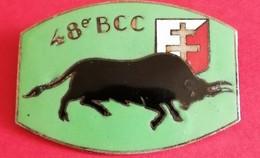 RARE INSIGNE DU 48 BBC - 1939-45
