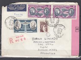 Recommandée Brief Van Gap R.P. Hautes-Alpes Naar Buenos Aires (Argentinie) - Storia Postale