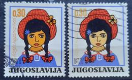 GIRL WITH HAT-CHILDREN'S WEEK-0.30 D-VARIATION-YUGOSLAVIA-1966 - Gebraucht