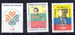 Serie Nº 1038/40  Ecuador - Ecuador
