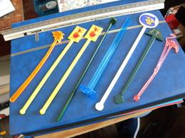 Lot De Huit Touilleurs à Cocktail Melangeurs De Boissons - Swizzle Sticks