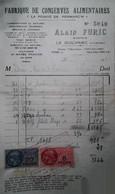 G 26 Facture/document Entete  Conserves Furic à Le Guilvinec - Alimentos