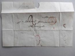 Brief Zonder Inhoud. Spetebrood, Garenmarktstraat POPERINGE (stempel 4 Mai 1853) En YPRES 3 MAI 1853. 2 Solz Port - Manuscripts