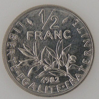 France, 1/2 Franc 1982, SPL, KM# 931.1 - G. 50 Centimes