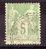 Sage N° 106 - Oblitération CàD Cercle Extérieur Tireté Castelmaurou (Hte Garonne) - 1876-1898 Sage (Type II)