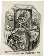 H9 - ...LUCAS...  -  Ancienne Gravure Sur Cuivre / Oude Kopergravure / Old Copperplate  - Grav. HUBERTI - 7,5x9,5cm - Santini