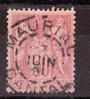 Sage N° 104 Rose Clair - Oblitération CàD Cercle Intérieur Tireté Mauriac (Cantal) - 1898-1900 Sage (Type III)