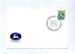 Lettre Cachet Nazareth Visite Pape - Covers & Documents