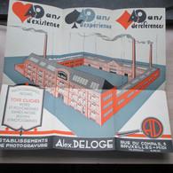 Bruxelles Alex Deloge Photographies Dessins Photogravure 45 Op 40 Cm 1930 - Posters