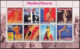 {F0095} LABEL Cinema Marilyn Monroe Sheet MNH Cinderella ! - Fantasy Labels