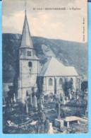 Monthermé (Ardennes)-+/-1920-L'Eglise Et Le Cimetière -Carte Bleutée-Edit. Floquet-Montcy - Montherme