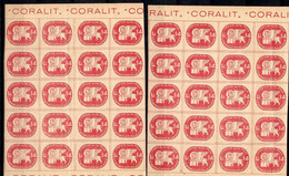 Italie Timbre Local De 1945 Corrieri Alta Italia Deux Blocs De 20 Timbres Neufs ** MNH. TB. A Saisir! - Emisiones Locales/autónomas