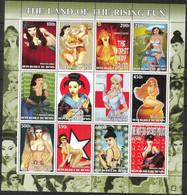 {F0097} LABEL Pop Art Paintings I Sheet Of 12 MNH Cinderella ! - Fantasy Labels