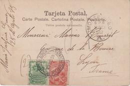 "URUGUAY : OBL . "" MONTEVIDEO "" . POUR LA FRANCE . 1902 . - Uruguay"