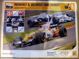Sport Mécanique, Affiche 60x80cm, AFFICHE POSTER FORMULE 1, Renault & Alonso: One More, 2008, Alonso 1er, Piquet 4ème - Posters