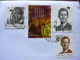 2002 / 2007    3 Stamps  Used On A Letter - 2001-10 Gebraucht