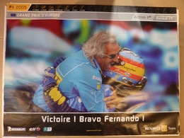 Sport Mécanique, Affiche 60x80cm, AFFICHE POSTER FORMULE 1, Grand Prix D'Europe 2005, VICTOIRE BRAVO FERNANDO - Posters