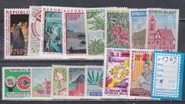 Madagascar  Année Complète 1969  XX Poste 460 / 71, Poste Aérienne 109 / 11, Les 15 Valeurs Sans Charnière, TB - Madagascar (1960-...)