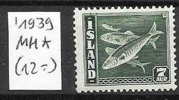 Iceland Mint Hinge Trace * (12 Euros)1939 - Ungebraucht