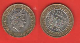 Inghilterra 2 Sterline Pounds 2004 Treno Progress & Innovation Train Bimetallica Bimetallic - 2 Pounds