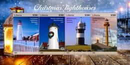 Liberia 2020  Christmas Lighthouses  S202102 - Liberia