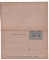 OBOCK - 1894 - CARTE-LETTRE ENTIER TYPE INDIGENES NEUVE - ACEP CL3 - Lettres & Documents