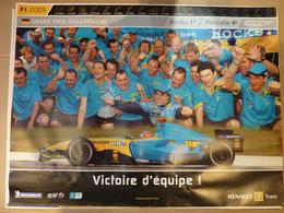 Affiche 60x80cm, AFFICHE POSTER FORMULE 1, Grand Prix D'Allemagne 2005, Alonso 1er, Fisichella 4ème - Posters