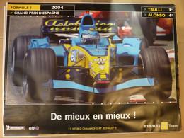Affiche 60x80cm, AFFICHE POSTER FORMULE 1, Grand Prix D'Espagne 2004, De Lieux En Mieux - Posters
