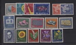0ch  1220  -  Suisse  :     Yv  673-88  **    Année 1961 Complète - Nuovi