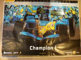 Affiche 60x80cm, AFFICHE POSTER FORMULE 1, Grand Prix Du Bresil 2005, CHAMPION ! - Posters