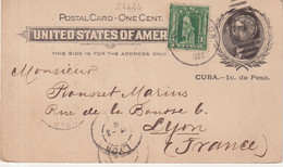 CUBA : ENTIER POSTAL . AVEC COMPLEMENT . 1903 . - Unclassified