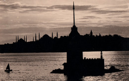Carte-Photo - ISTANBUL - Vue De La Ville Effet De La Nuit ... - Gibraltar