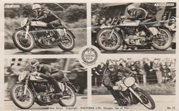 GB Postcard Isle Of Man TT Races Various Riders And Machines - Isle Of Man