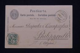 SUISSE - Entier Postal + Complément De Schwandel Pour L'Algérie En 1899 - L 95306 - Interi Postali