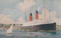 GB Postcard Shipping Cunarder At Queenstown 1920 - Unclassified