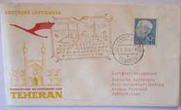 Lufthansa Erstflug Teheran Iran 1956 (7044) - Aviones
