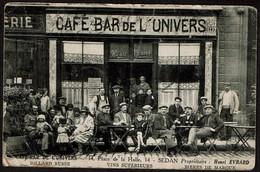 Café Bar De L'Univers - 14 Place De La Halle - Sedan - Propr. Henri Evrard - Voir Scans - Sedan