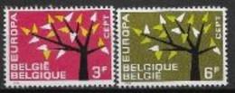 Belgique 1962 Neufs ** N° 1222/1223 Europa - 1962