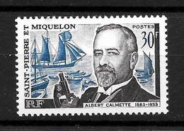 "Saint Pierre & Miquelon : ""Calmette""  N° 368 Neuf **  TB  (cote 11,50 €) - Ongebruikt"